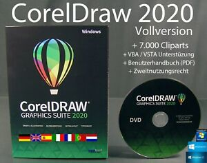 Corel Draw Graphics Suite 2020 Vollversion Box + DVD Windows VBA Handbuch NEU