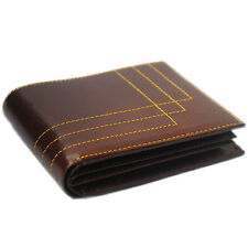Modish High Quality Bi-fold Genuine Leather Wallet for Men's-Dark Brown