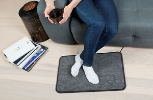 Electric Foot Warmer Heater Floor Heating Mat Pad Carpet Feet Heater 50W UK Plug