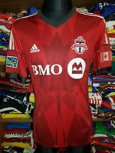 TORONTO FC 2014 HOME SHIRT SIZE M PLAYER ISSUE FORMOTION MLS JERSEY MAGLIA (o120