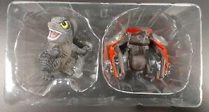 Godzilla 2014 Muto Chibi Figures Rare Mint Monsterverse