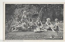 Daily Mirror Newspaper, 8 Glamour Girls Advertising Postcard #2, B554