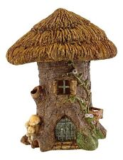 Thatched Roof Tree Stump Fairy House (4504) Miniature Dollhouse FAIRY GARDEN NEW