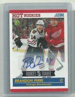 10/11 Score Traded Brandon Pirri Vegas Golden Knights Hot Rookies Auto/Autograph