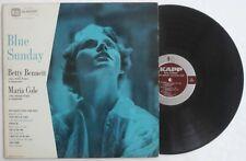 Rare 1956 Jazz Female Vocal Kapp Record Blue Sunday Betty Bennett Maria Cole LP