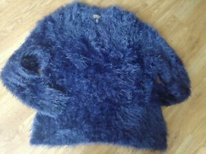 Top Shop Blue Fluffy Jumper Size 12