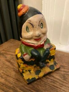 Old painted cast iron HUMPTY DUMPTY MONEY BOX