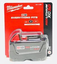 GENUINE Milwaukee 48-11-1828 18v 3.0 AH Battery M18 3.0XC Fuel Gauge NEW IN PACK