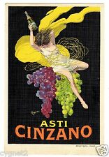 POSTCARD FRENCH CAPPIELLO ASTI CINZANO ADVERTISING