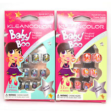 Kleancolor 2 Pack Baby Boo Pre-Glued ABS Nails Children Kids Girls Nail Tips #02