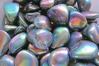 Three Titanium Rainbow Quartz Tumbled Stones 20-25mm Reiki Healing Crystals