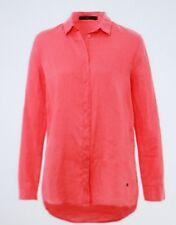 Brax Moderne Leinen - Bluse mit Krempeloption Coral Größe 40 Neu mit Etikett