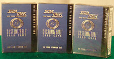 Decipher Star Trek NG White Border Starter Decks--Factory Sealed Lot of 3