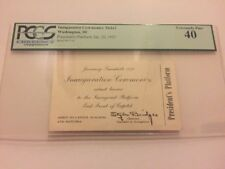 1953 President Dwight Eisenhower Inauguration PRESIDENT'S PLATFORM TICKET PCGS