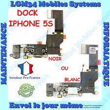 NAPPE DOCK CONNECTEUR DE CHARGE ET JACK POUR IPHONE 5S NOIR ET BLANC
