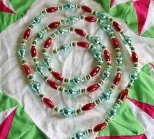 Christmas Gorgeous Glass Bead Garland Retro Vintage Style New