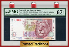 "TT PK 125b ND 1999 SOUTH AFRICA 50 RAND ""LION"" PMG 67 EPQ SUPERB GEM NONE FINER"