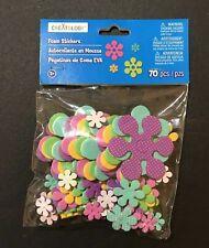 Flower Foam Stickers, Creatology, 70 Pieces, New