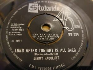"""JIMMY RADCLIFFE * LONG AFTER TONIGHT IS ALL OVER * RARE STATESIDE 7"""" SINGLE 1965"""