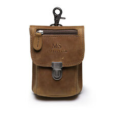 Mens Real Leather Waist Travel Hiking Bum Bag Money Hip Pouch Belt Fanny Pack
