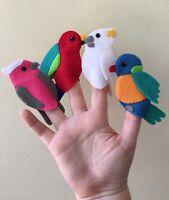 Native Australian Bird Felt Finger Puppets