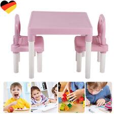 Kindersitzgruppe Kindertisch mit 2 Stühlen Kindermöbel Esstisch Kinderstuhl NEU