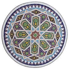 Marocain Table en Mosaïque Bistrotisch Rond de Pierres Schelhaoui-Ii D60cm