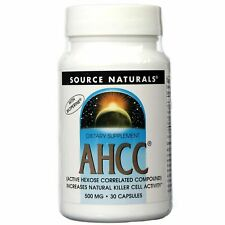 SOURCE NATURALS AHCC 500mg with Bioperine 30 Caps - Immune Support - Long Expiry