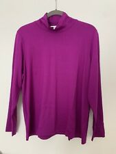 Peter Hahn Langarm Shirt Bluse Lila Gr 48 Stretch Neu