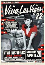 Reverend Horton Heat Poster The Delta Bombers Viva Las Vegas Car Show #22 Kruse