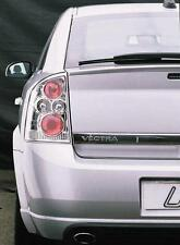 Vauxhall Vectra C 2002-2008 Clear Chrome Rear Back Tail Lexus Lamp Lights - Pair