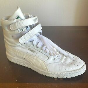Puma Contact Sky-High Top Boots Size 8 White Sneaker Shoes Streetwear