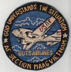 Wartime US Air Force MAAG Section GUTS AIRLINES Patch (830)