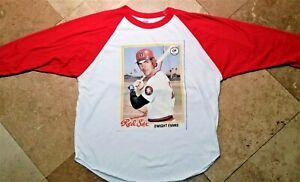 Baseball Raglan Red Sox Evans Scott Graphic Tee Shirt Cotton Blend White XL Men