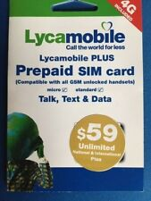 Lycamobile Preloaded Dual Sim Card Prepaid 1St Month $59 Plan