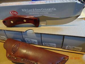 "CASE & SONS XX 8 1/2"" RIDGEBACK HUNTER ROSEWOOD HANDLE S.S. BLADE LEA SH CA398"