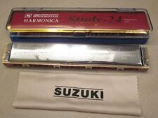 Harmonica Suzuki study-24 Tremolo 24 C# Key of C# 24Holes Japan brand