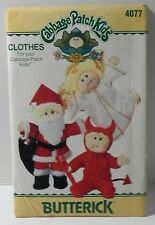 Butterick Cabbage Patch Doll Clothes Sewing Pattern Santa Angel Devil 4077