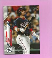 2020 Topps 582 Montgomery Club Foil Stamp #224 Juan Soto Washington Nationals