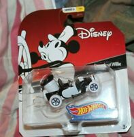 Hot Wheels Disney Character Cars Steamboat Willie Series 6 CAR#1/6 BRAND NEW