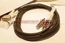 "Nuevo 7.5m Digidesign Avid 25 D Sub Macho a 8 Cable Jack Estéreo Neutrik TRS 1/4"" #1"