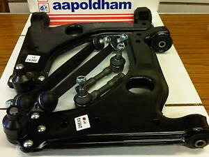VAUXHALL ASTRA G ALL MODELS 2X FRONT WISHBONES 2X LINK BARS 2X TRACK ROD ENDS