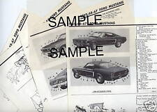 1960 DODGE & DODGE DART BODY PARTS LIST FRAME CRASH SHEETS MRE