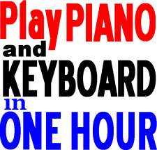 How to Play Piano or Keyboard in 1 hour. Beginners Music lesson book. Learn NOW