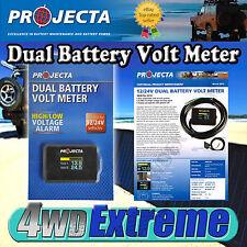 PROJECTA DUAL BATTERY VOLT METER MONITOR 12V24V SYSTEM 4WD CAMPER TRAILER DBM100