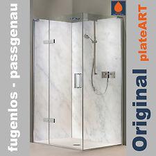 Rückwand Dusche Alu, Duschrückwand Fliesenspiegel Fliesen, Marmor weiß