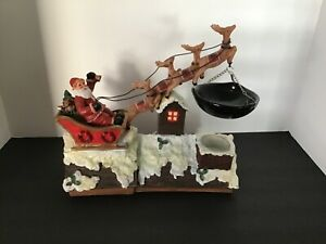 Yankee Candle Santa With Sleigh/Reindeer On Roof Hanging Warmer Retired Rare