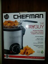 FRYGUY Electric Deep Fryer Fry Temperature Control Timer w/ Basket Strainer