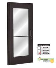 BULLET RESISTANT GLASS AND ALUMINUM COMMERCIAL DOOR AND FRAME
