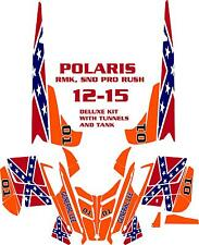 SNOWMOBILE WRAP POLARIS RUSH, PRO, RMK  DECAL 12-15 GENERAL LEE  WITH TUNNELS